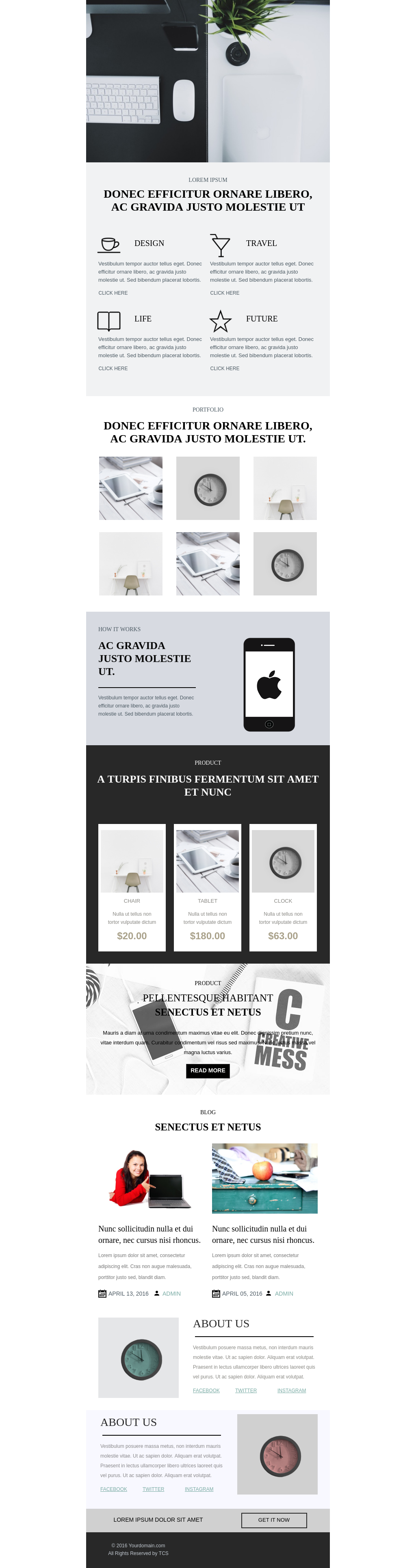 Multi-industry clean and minimalistic bright email template