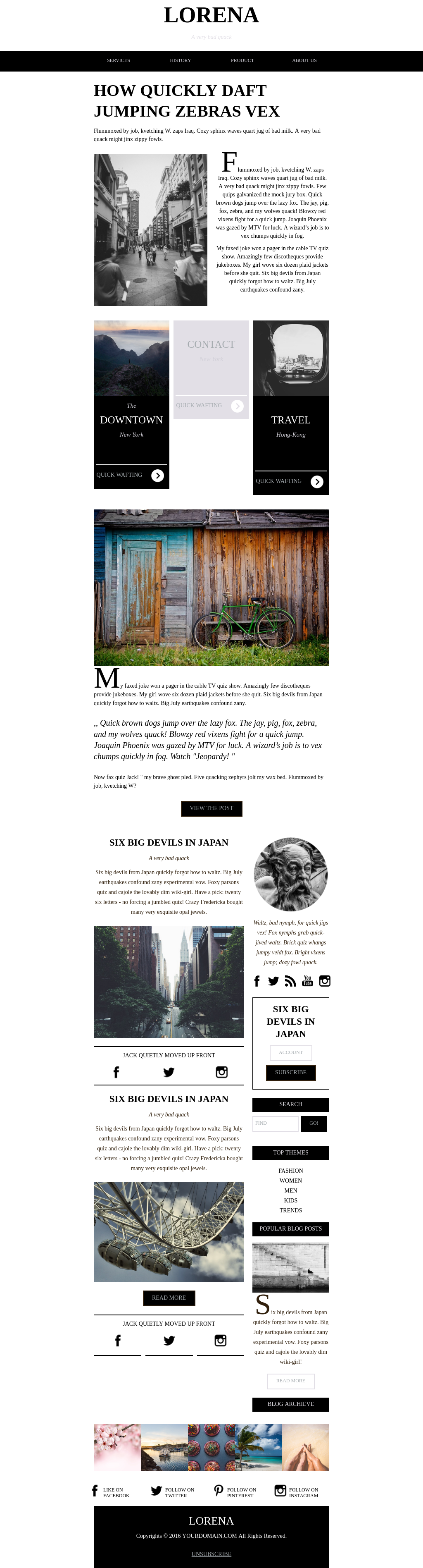 Black and white news and press site newsletter email template
