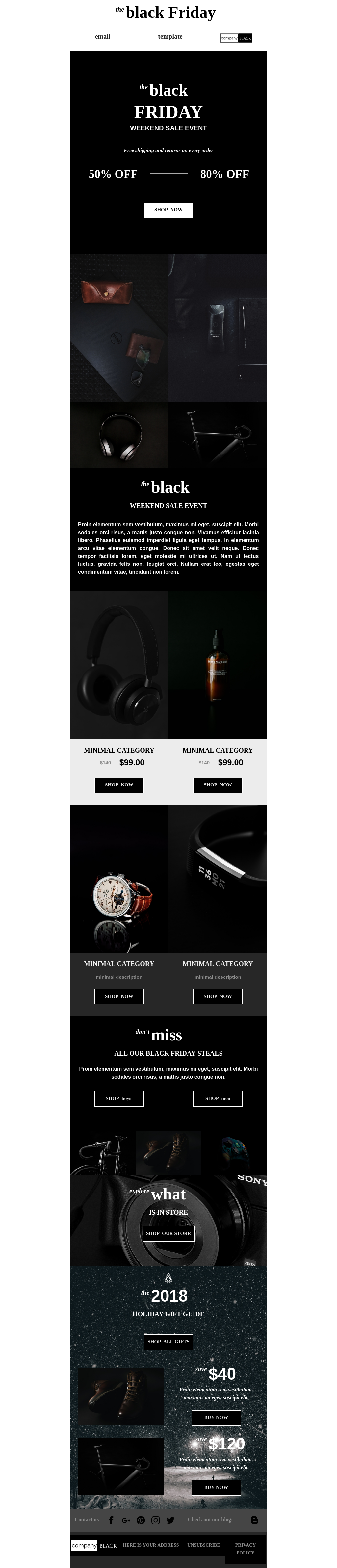 Black Friday ecommerce email campaign template