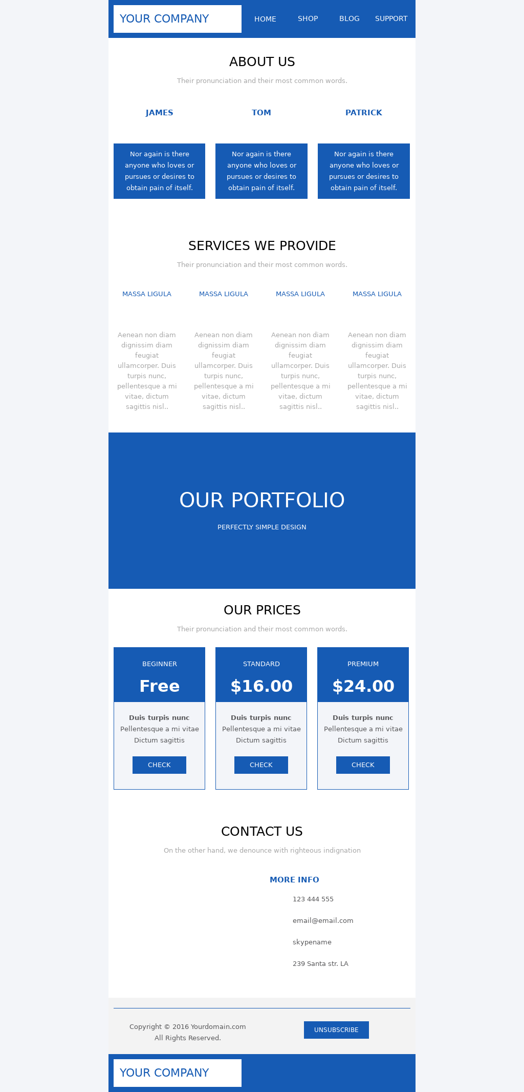 Blue sky business newsletter template