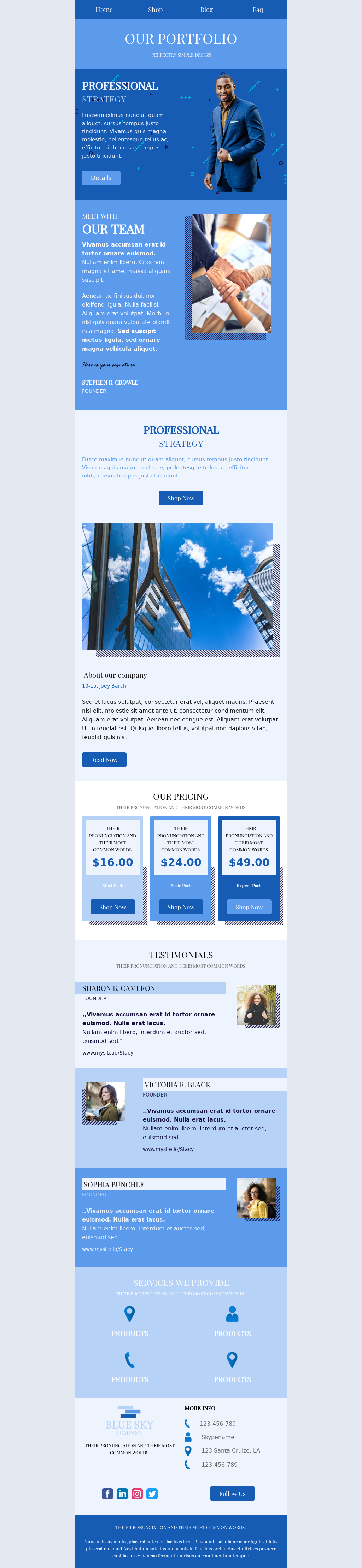Clean Looking Business Email