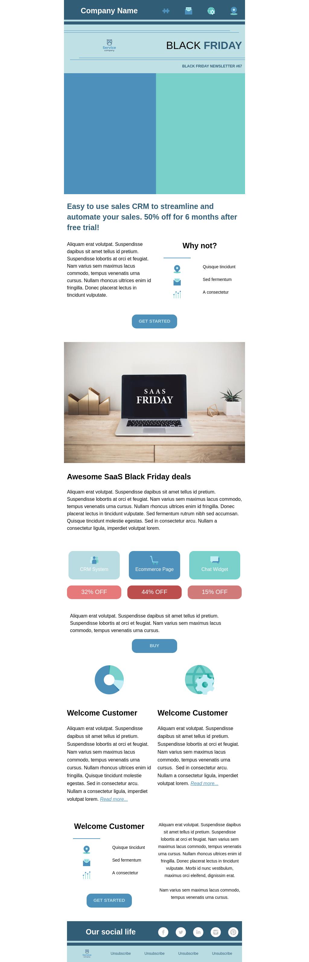 Black Friday sale business newsletter