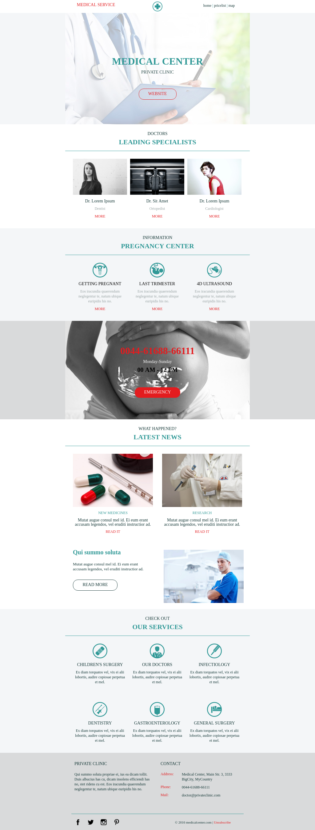 Healthcare promotional template with clean and light design