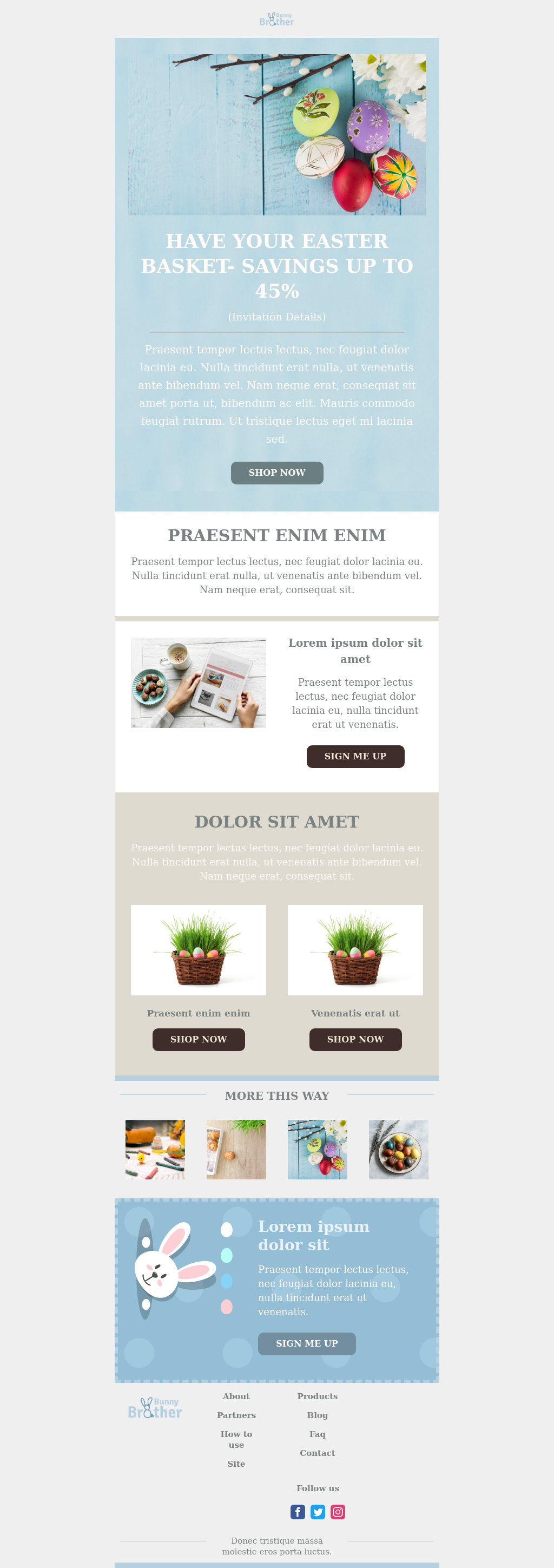 Colorful Easter template for e-commerce industries