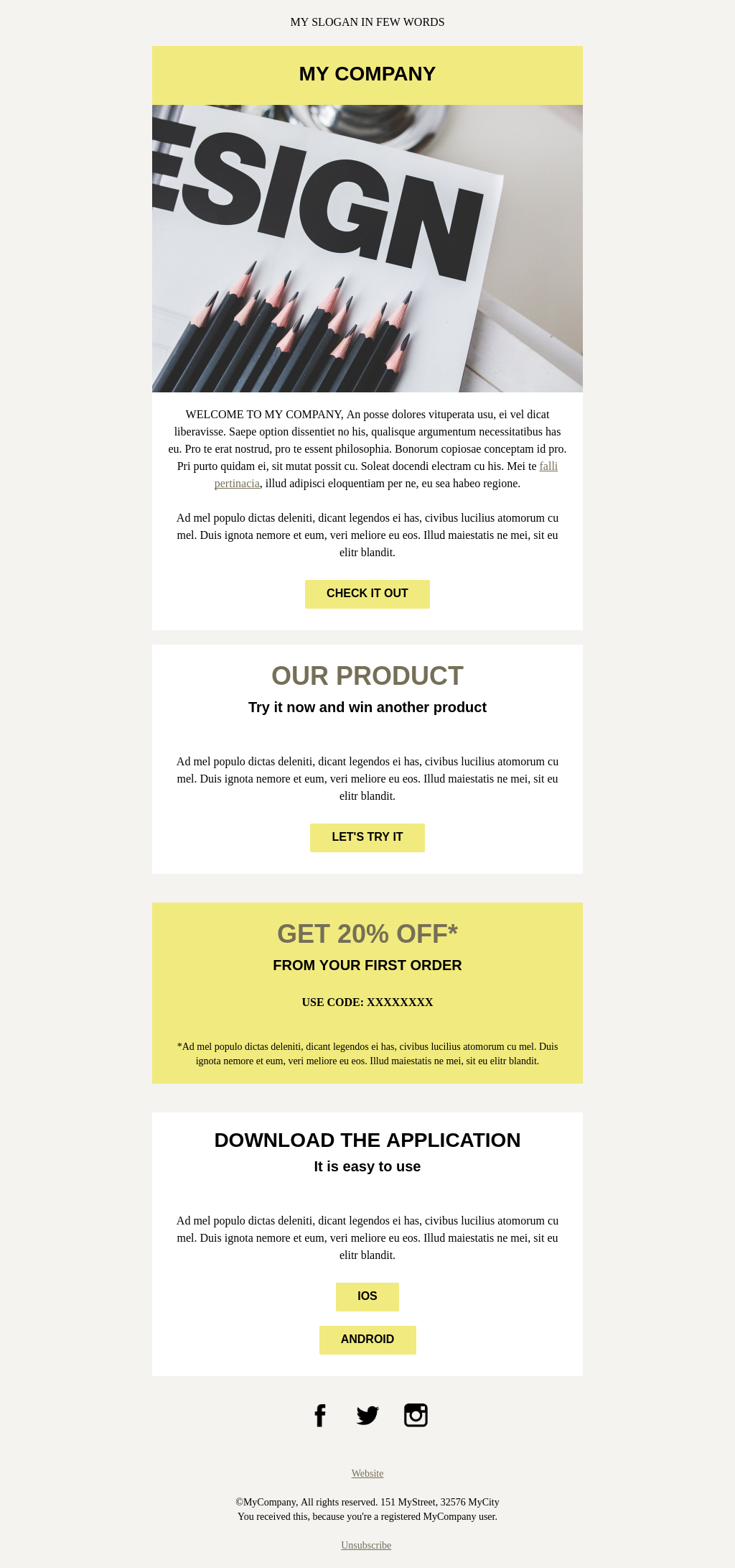 Limelight | Fresh and Simple Responsive Welcome Email Template
