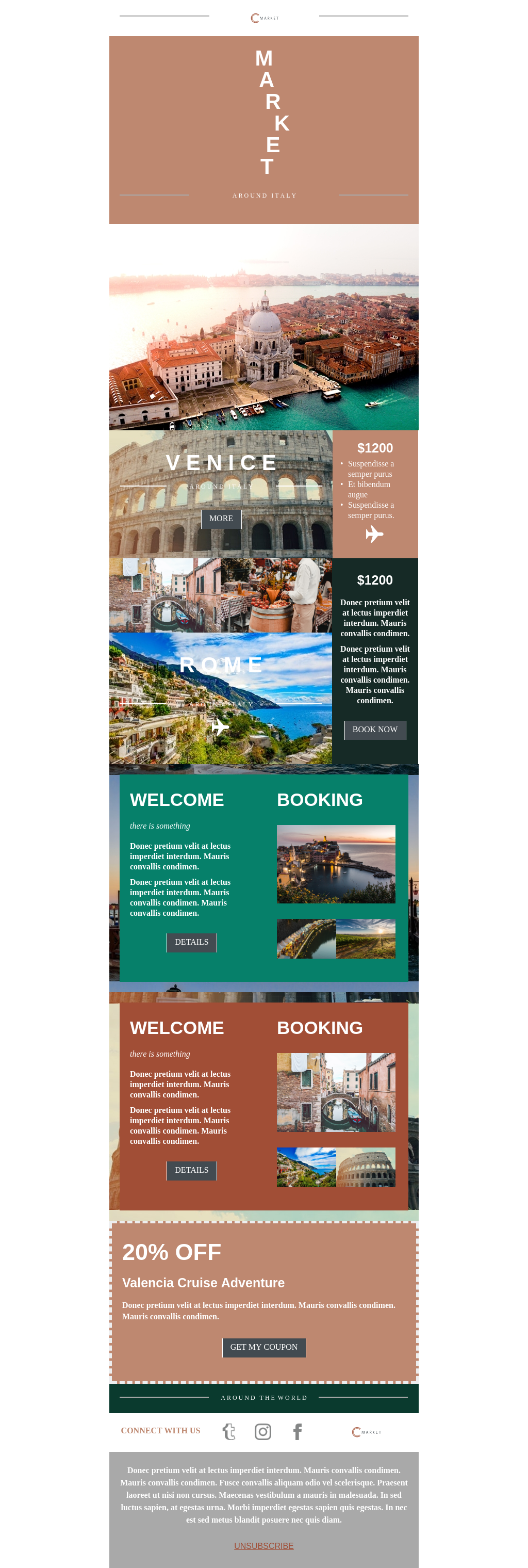 Pastel colored travel template for tourism industry.