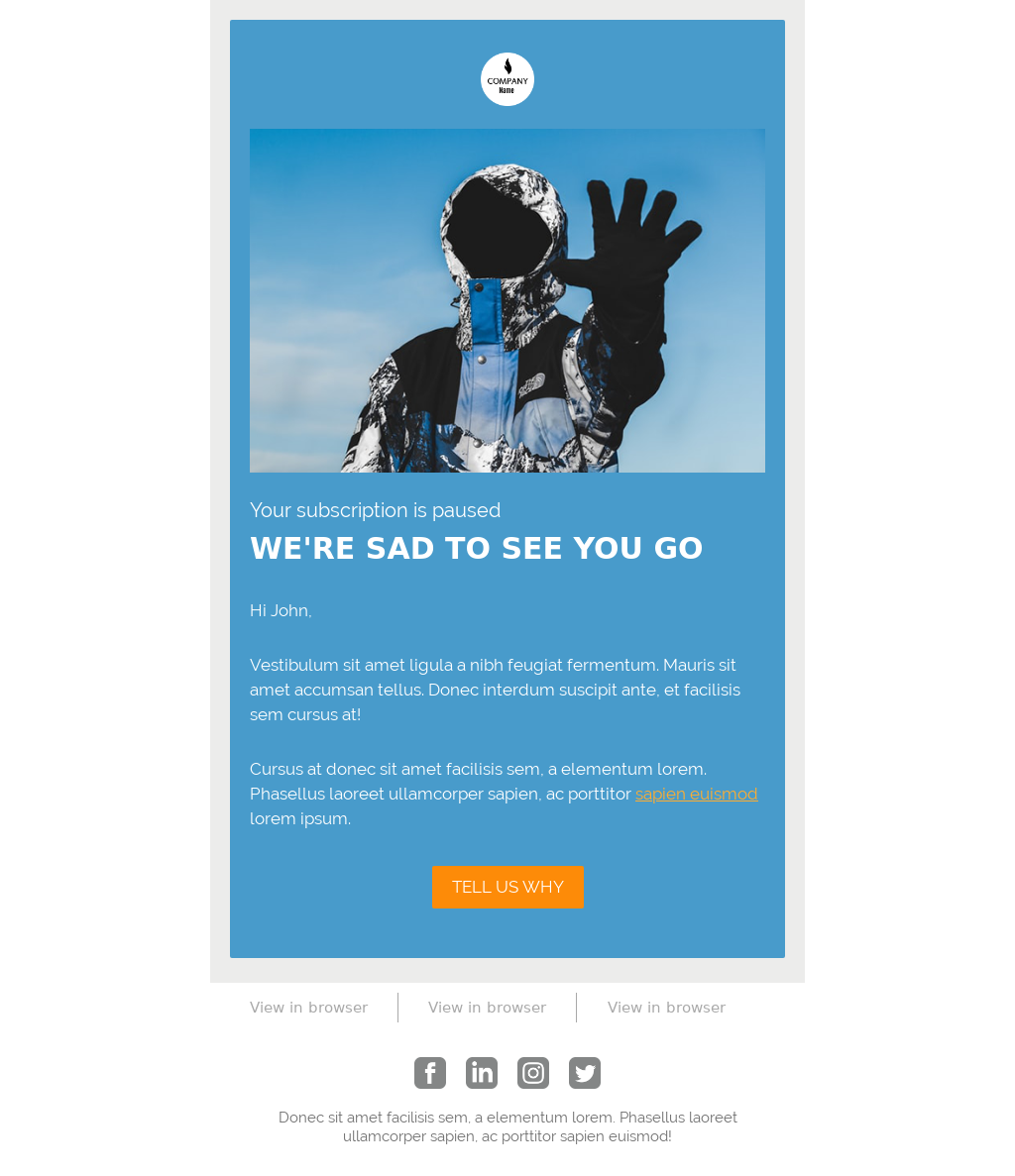 Just Send It Ecommerce Template Pack - Cancellation
