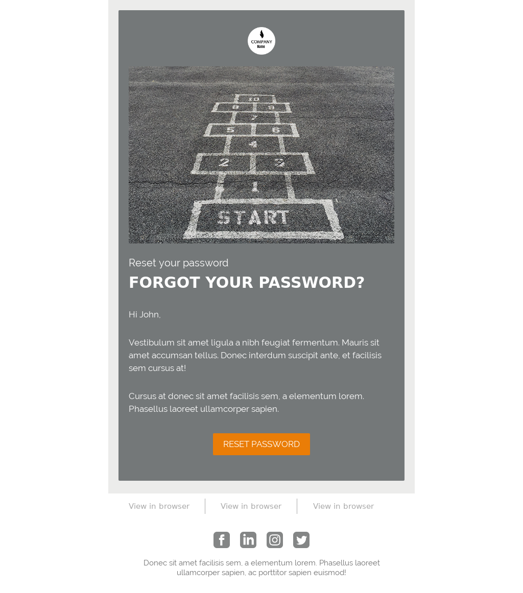 Just Send It Ecommerce Template Pack - Password Reset
