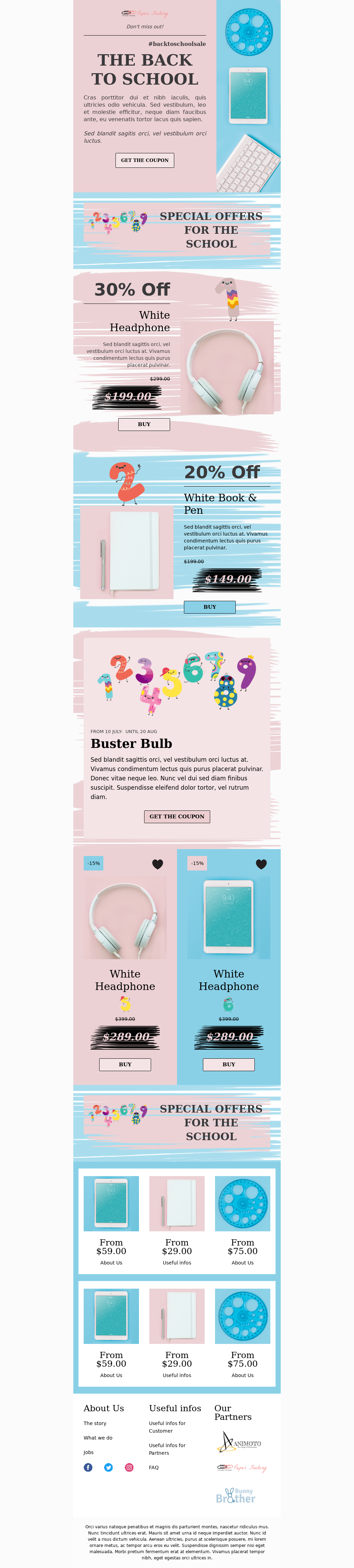 Pink and Blue Back to School Template