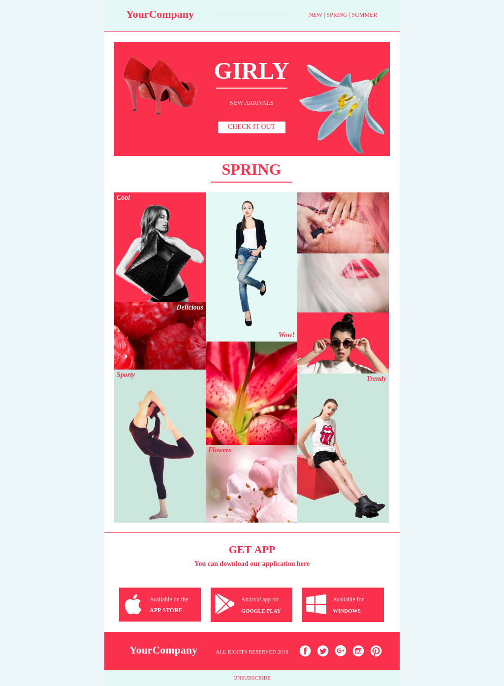 Short Product Sales Ecommerce Newsletter Template