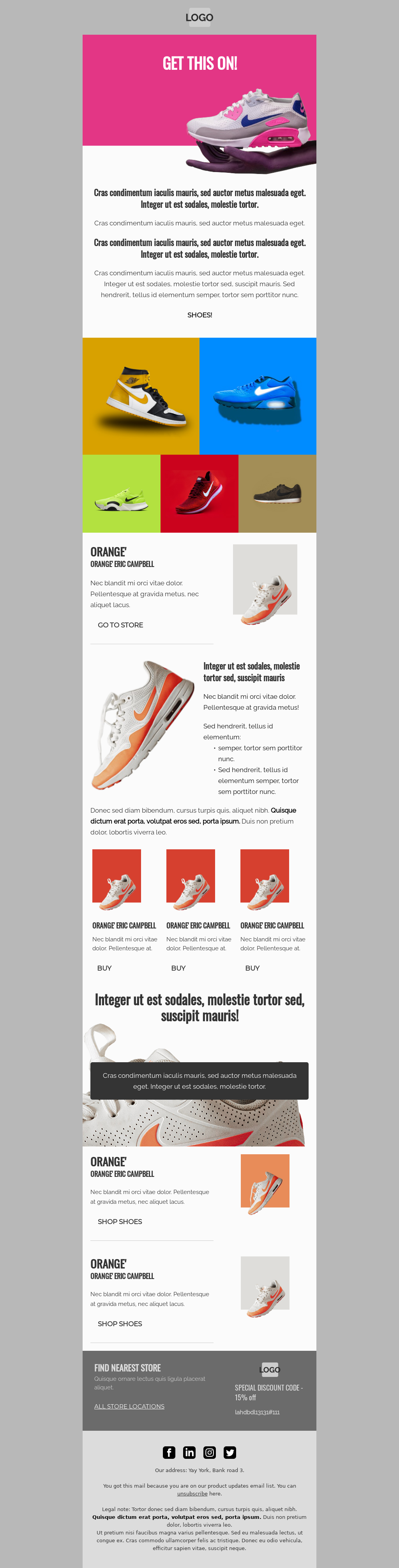 Shoes! Ecommerce Email Template for Marketo