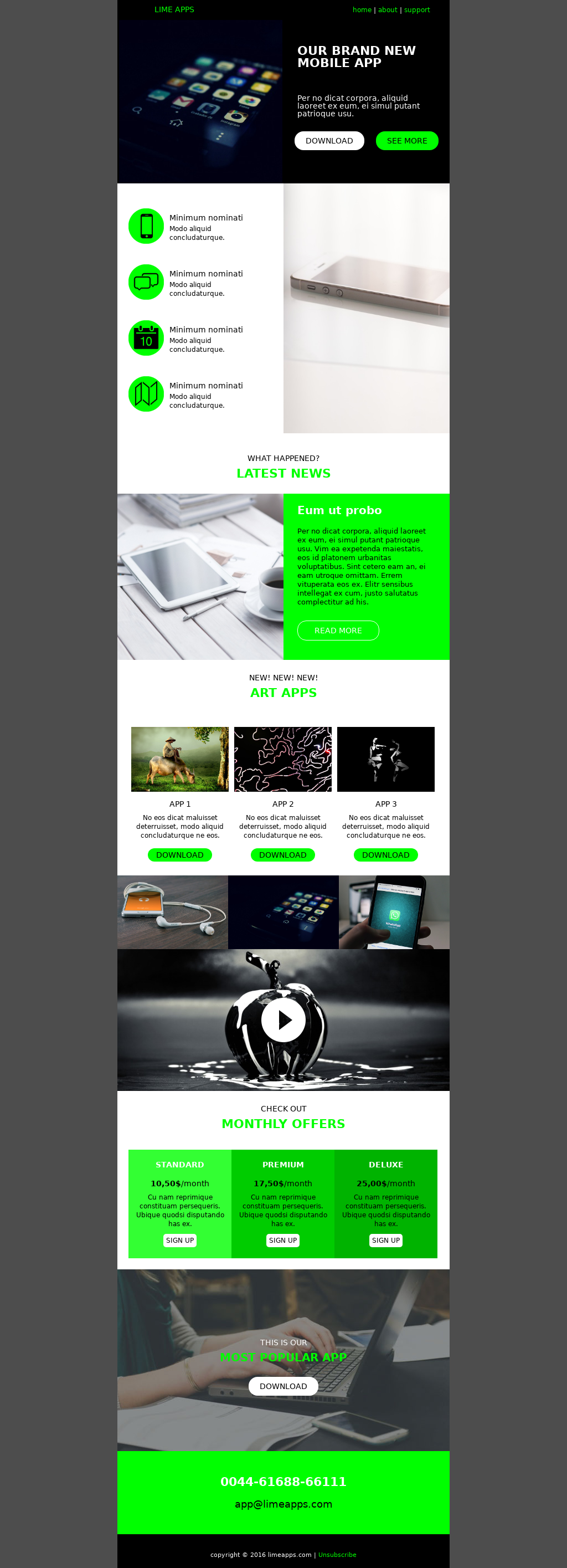 Technology newsletter email template