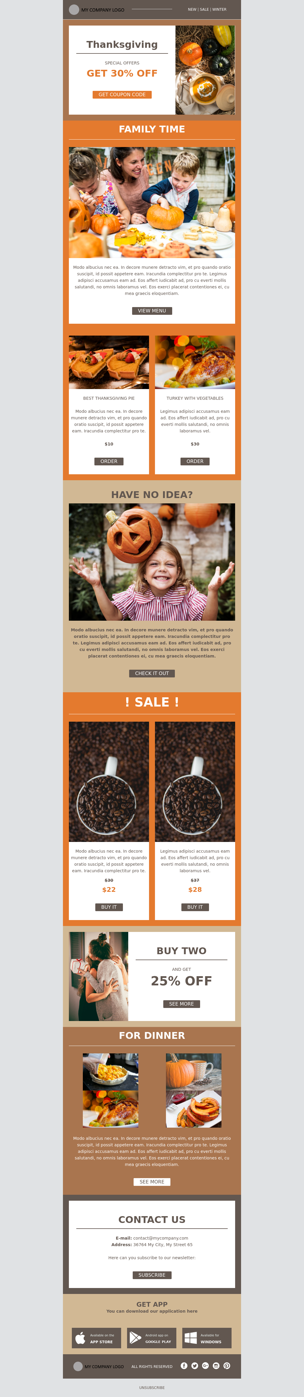 Thanksgiving Template Special Offer Promotional Template