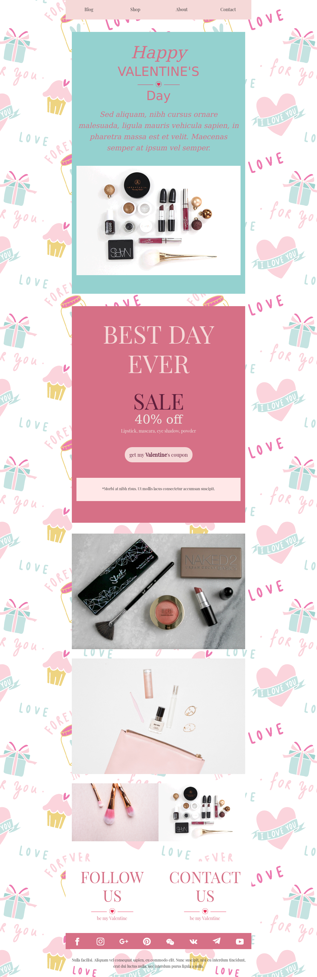 Ecommerce Valentine's Day Email Newsletter