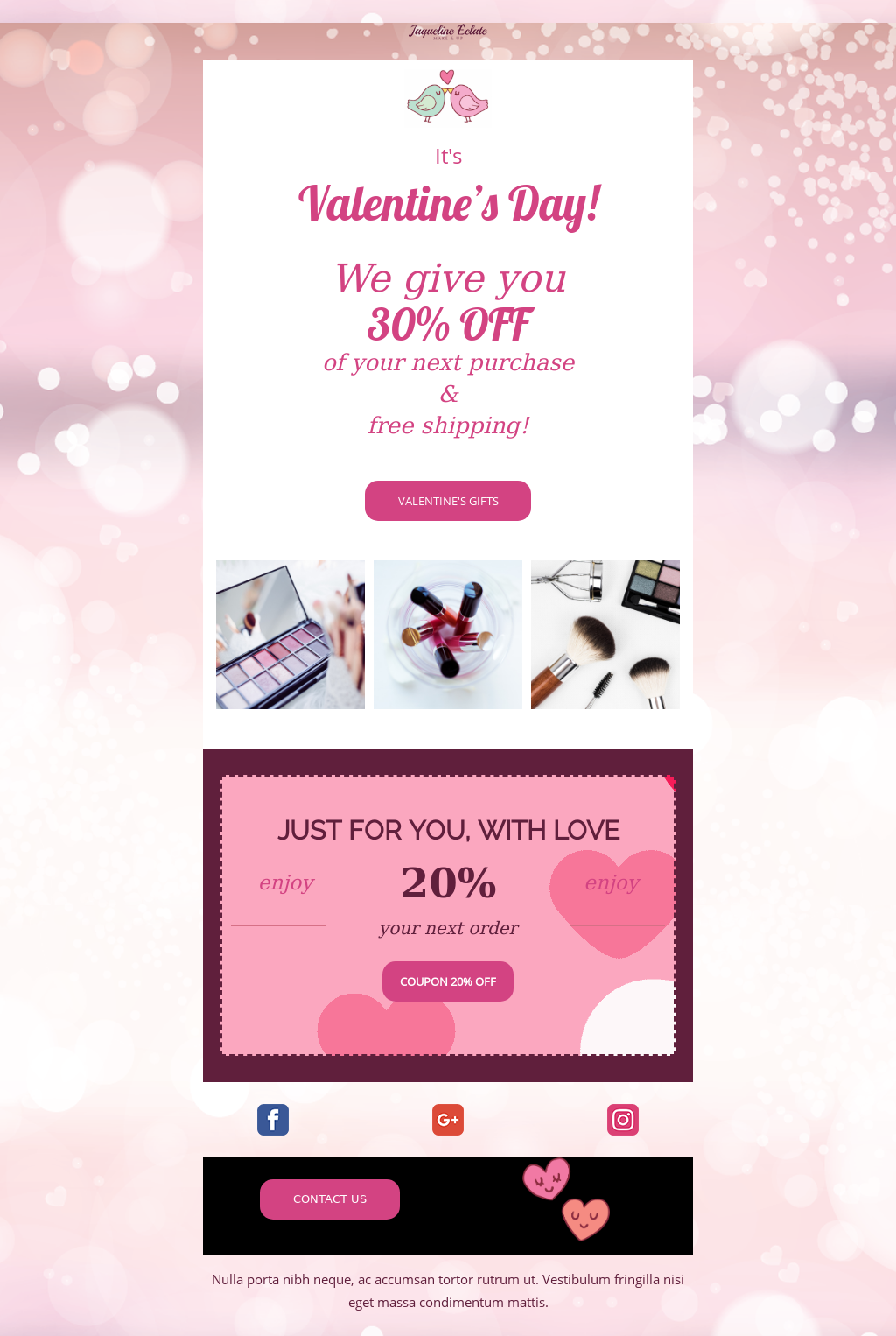 Email Newsletter Template for Valentine's Day