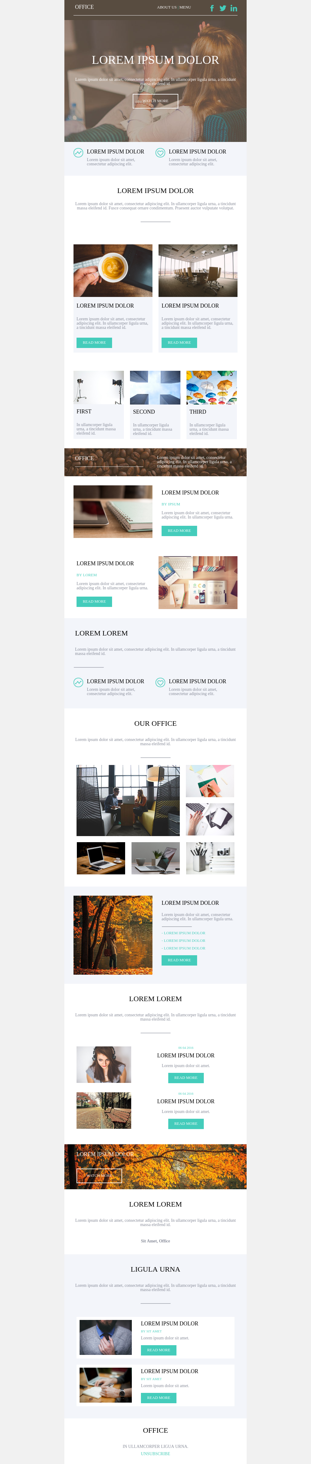 Laid back office template for businesses